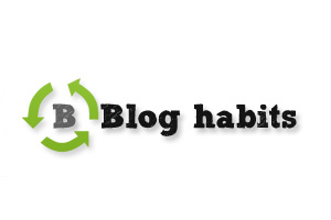 Blog habits logo button