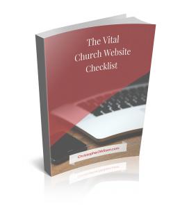 The Vital church website checklist book cover