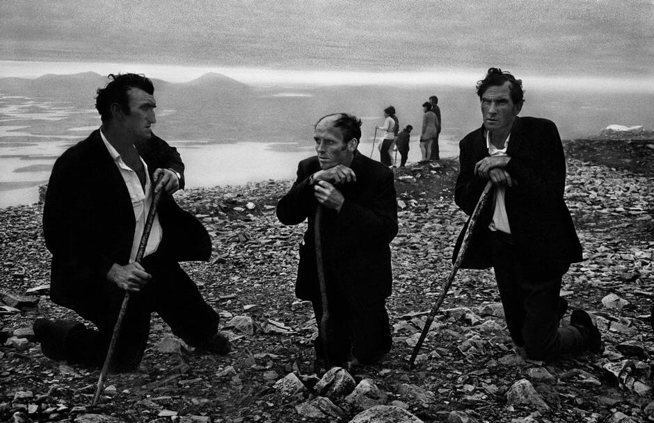 three pilgrims climbing patrick croagh