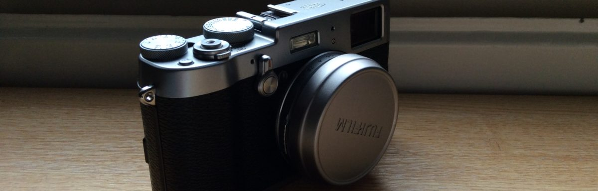Fuji x100t on shelf