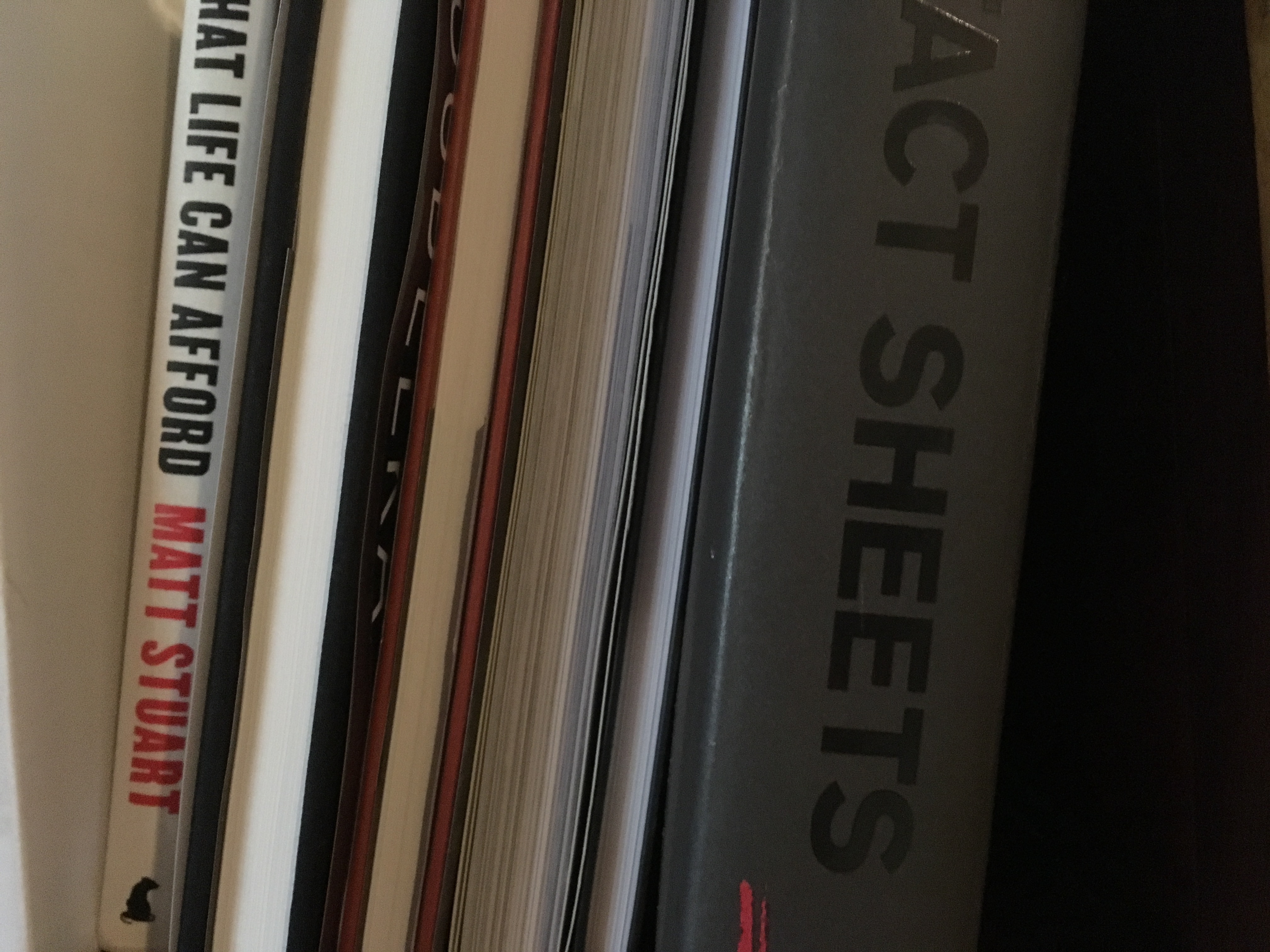 photo books on a shelf