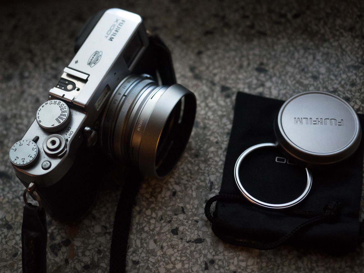 Fujifilm X100t with LH-X100 attached