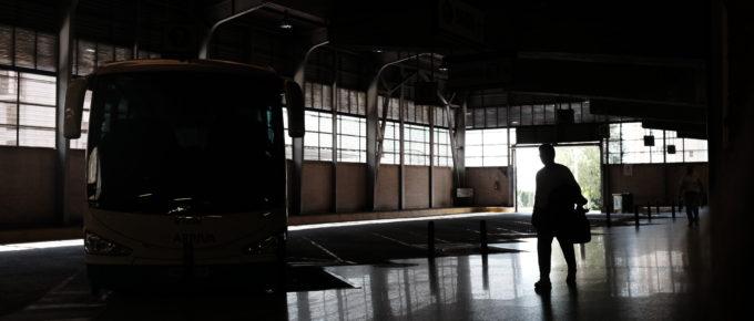 Bus station in Santiago de compostela