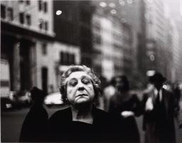 Diane Arbus woman resting face
