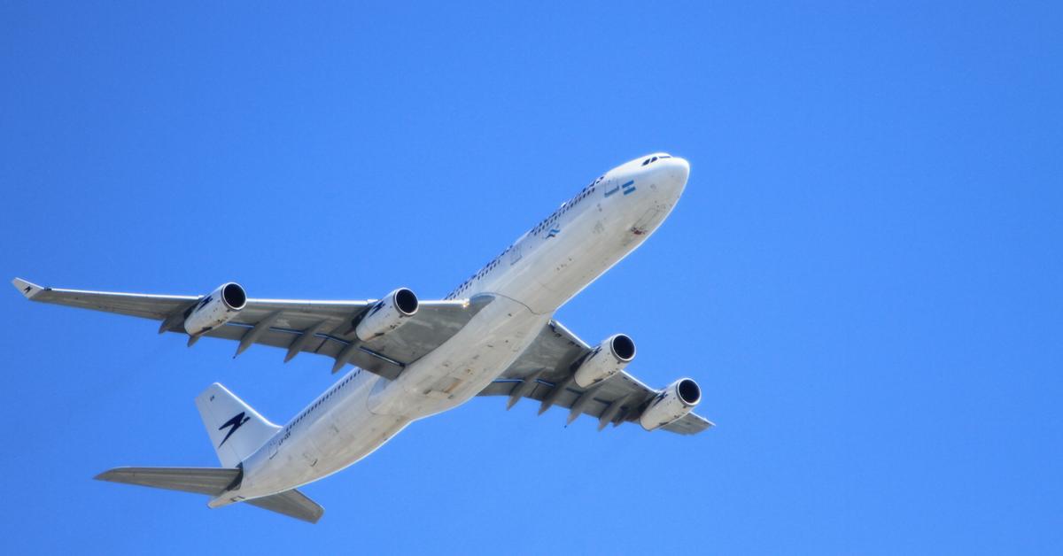 Jet plane flying travel