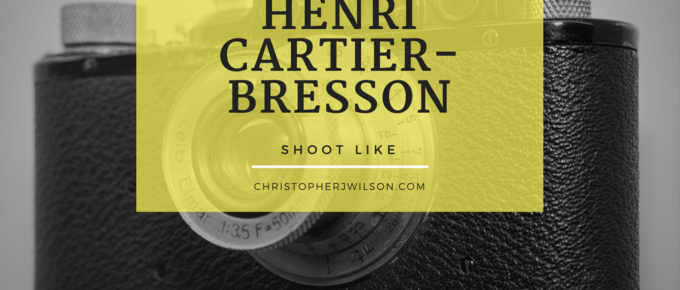 Shoot like henri Cartier-bresson hero image with a leica iii in the background