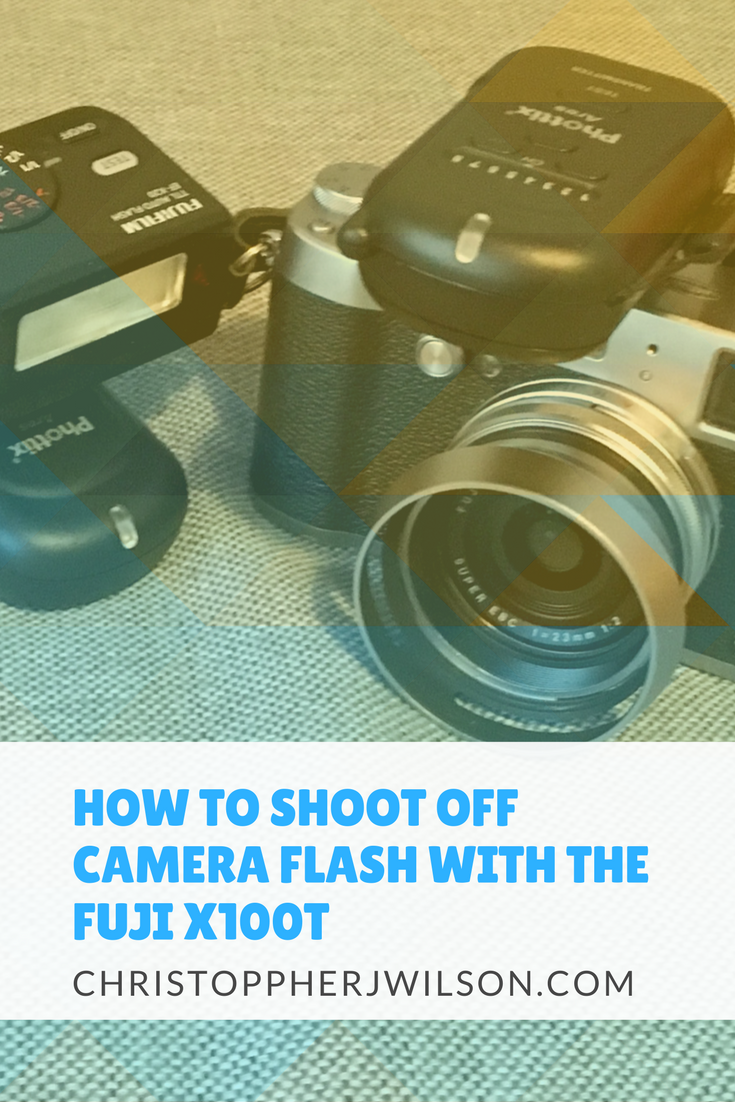 want to learn how to shoot off camera flash with the fuji x100t and a wireless flash?